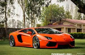 Neon Orange Lamborghini Aventador On Adv 1 Wheels In India Adv Aventador 040812 01