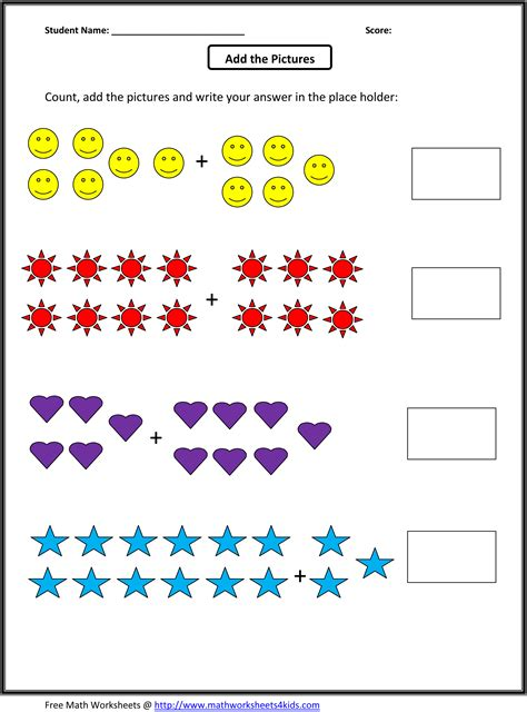 1st Grade Printable Math Worksheets by Grade Math Worksheets