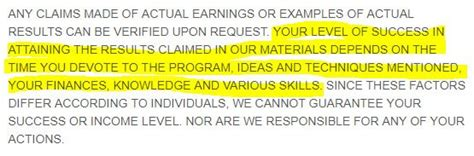 Earnings Disclaimer Template by Uk Earnings Disclaimers Disclaimkit
