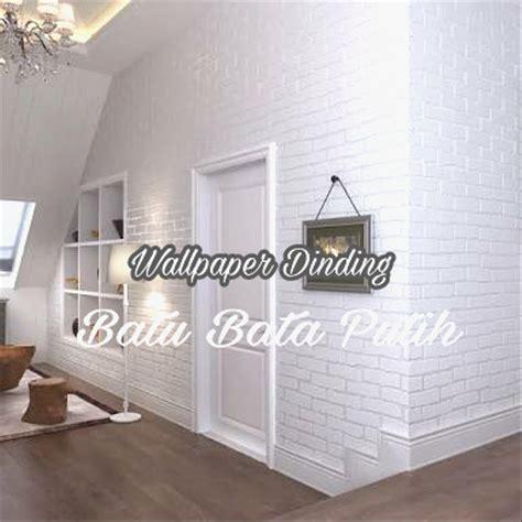 jual wallpaper dinding batu bata putih  lapak karya ibu