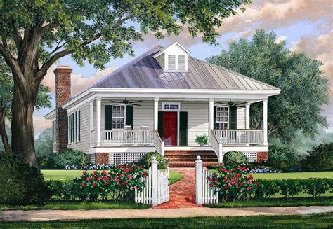 house plans with metal roofs southern cottage house plan with metal roof 32623wp