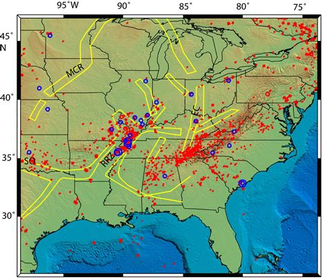 earthquake fault lines map new madrid seismic zone a cold dying fault seth stein