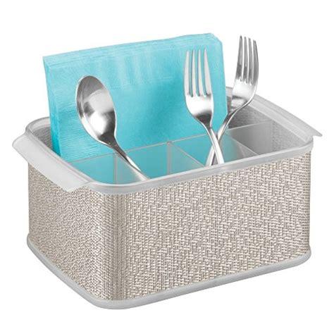 Dining Table Caddy Interdesign Twillo Silverware Organizer Caddy Flatware Storage Solution For Kitchen Countertop