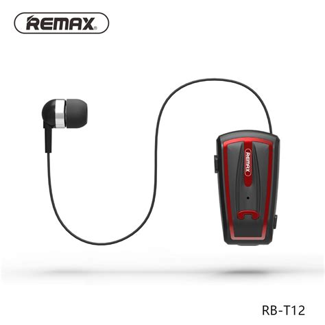 Hansfree Earphone Remax Mic original remax t12 wireless headphones bluetooth lapel