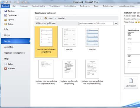 layout word verslag notuleren de letter s