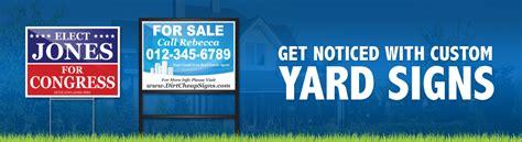 custom backyard signs cheap yard signs bandit signs custom lawn sign caign