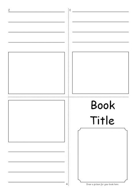 picture book templates editable fold mini book templates sb7366 sparklebox