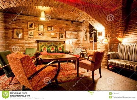 Interior Of Cozy Cafe In The Style Of An Old Apartment