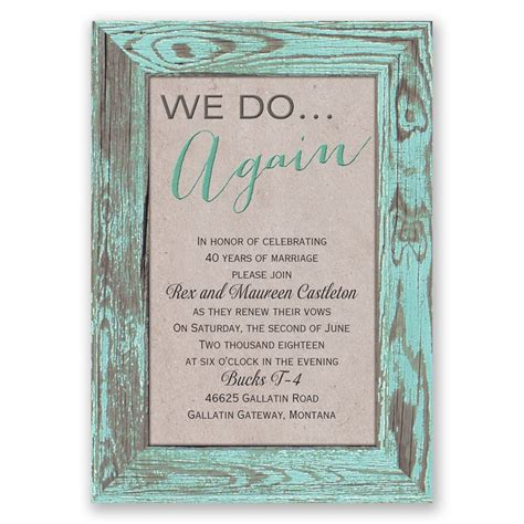 Wording Of Wedding Renewal Invitations by Tried And True Vow Renewal Invitation Invitations By