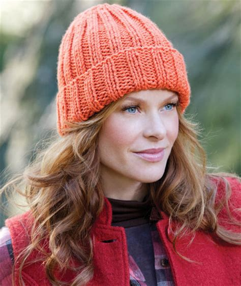 red heart pattern lw2890 easy fit ribbed hat red heart