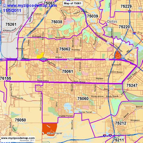 irving texas zip code map zip code map of 75061 demographic profile residential housing information etc