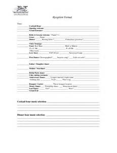 Wedding Reception Timeline Template by 14 Best Images Of Wedding Reception Worksheet Dj Wedding