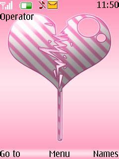 themes broken love download broken heart s40 theme nokia theme mobile toones