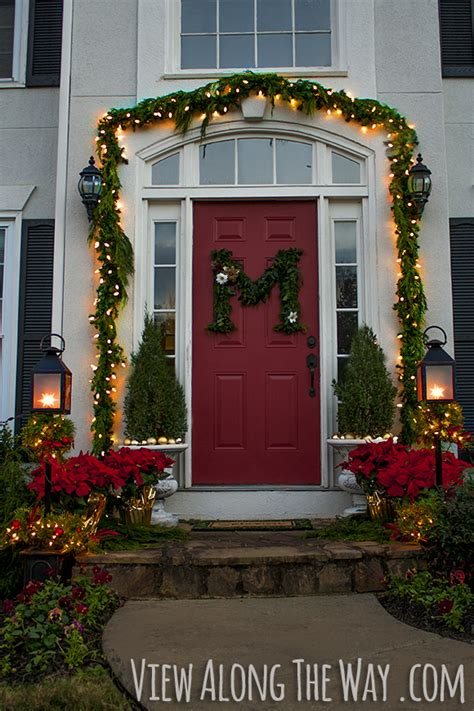 Decorating Your Front Door For - decorate your front door with fresh greenery and this diy