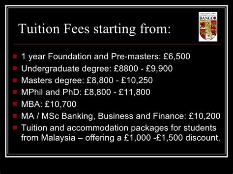 Mba In Malaysia Fees by Bangor