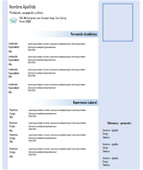 Modelo Curriculum Vitae Word Para Completar Modelo De Curriculum Vitae Profesional Para Descargar Gratis En Formato Word