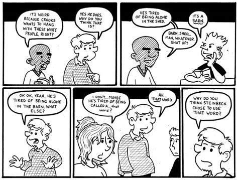 Stripe Novel Mice comics teachable moments page 3
