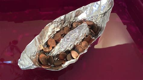how to build a boat to hold pennies 12 quot by 12 quot aluminum foil boat using the hull design