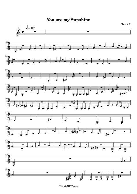 printable sheet music you are my sunshine you are my sunshine sheet music you are my sunshine