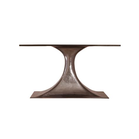 bronze dining table stockholm bronze oval dining table base pairs with 95