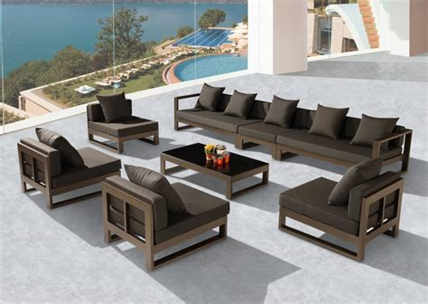 hospitality outdoor furniture quot xl quot sectional set new collection outdoor sofa seating sets babmar hospitality