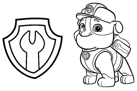 paw patrol team coloring pages rubble paw patrol coloring page only coloring pages