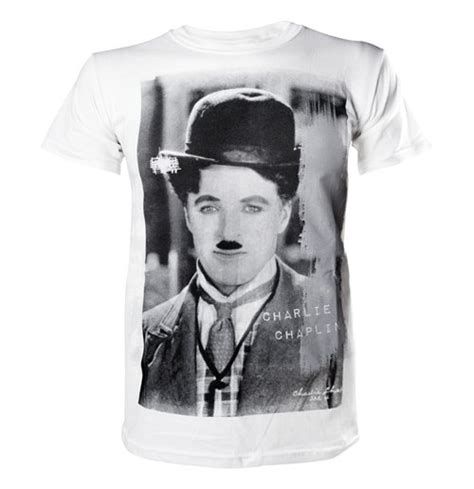 Tshirt Chaplin White acquista chaplin white t shirt unisex originale
