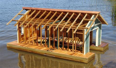 floating boat house andre m poineau woodworker inc floating boathouse