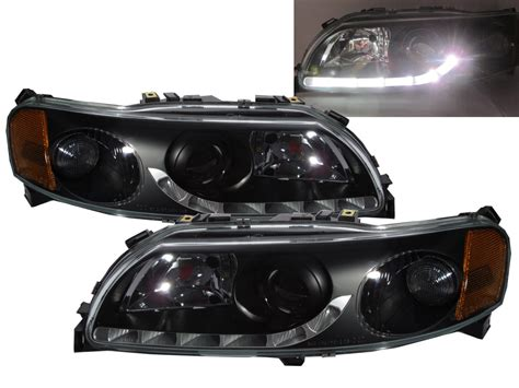 sv   pre facelift glass projector headlight  black  volvo lhd ebay