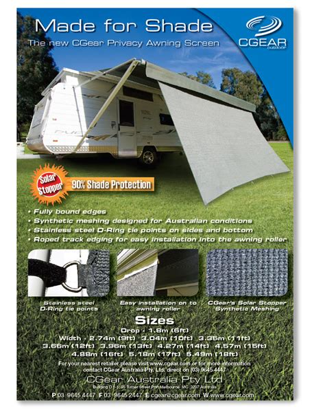 Outdoor Awning Privacy Screen