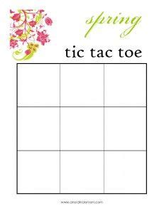 tic tac toe project template free word search for activity printables