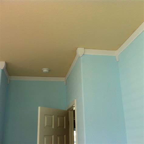 faux crown molding with paint faux crown molding upsides own baseboard and painted