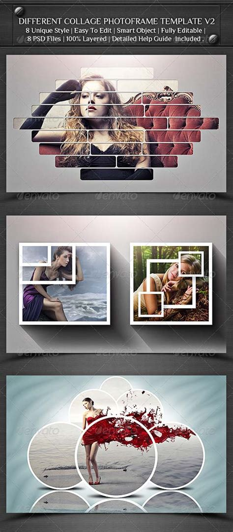 photoshop template river graphicriver different collage photoframe template v2