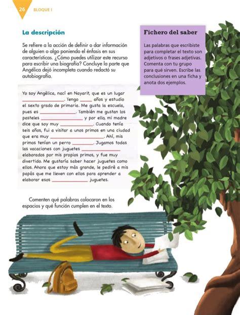 libro de espaol de la sep de 6 grado 2015 2016 libro de texto espanol 6to grado primaria 2014