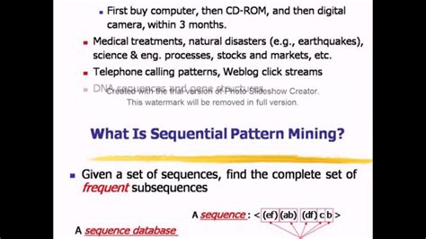 sequential pattern mining en francais sequential pattern mining and spade algorithm youtube