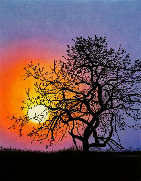 sunset colored pencil pastel and colored pencil drawings lebo