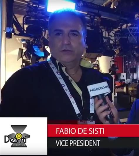 Desisti Lighting Ibc 2016 Fabio De Sisti De Sisti Lighting Millecanali