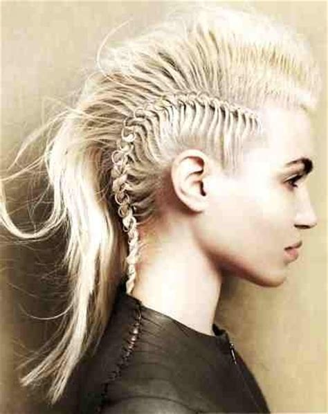 show me pictures of a shave mohawk with braids french braid mohawk elements pinterest french