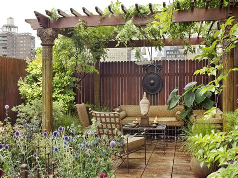 amazing eastern style rooftop terrace garden of a new york