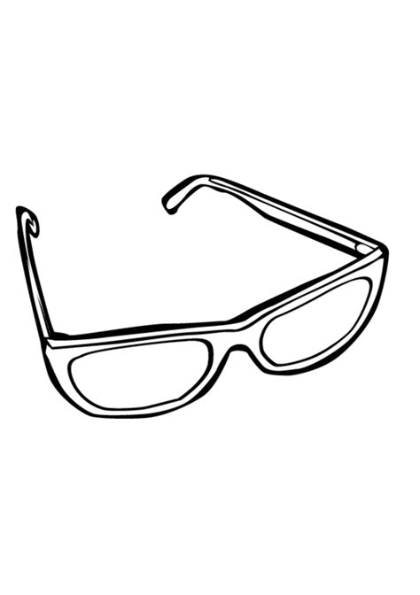 coloring page of eye glasses free eye glasses coloring pages