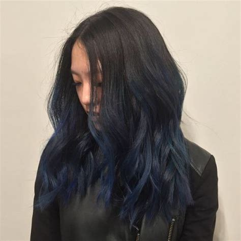 hair color black or midnight blue with subtle highlights or ombre brown blonde platinum grey subtle blue ombr 233 hair goals pinterest hair coloring