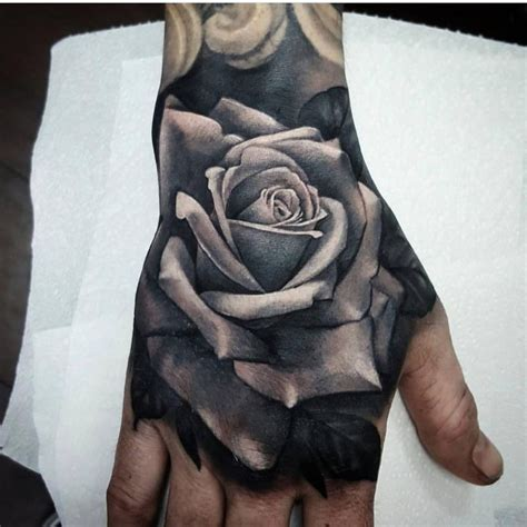 grey shaded rose tattoo by littlenicktattoo tattoos