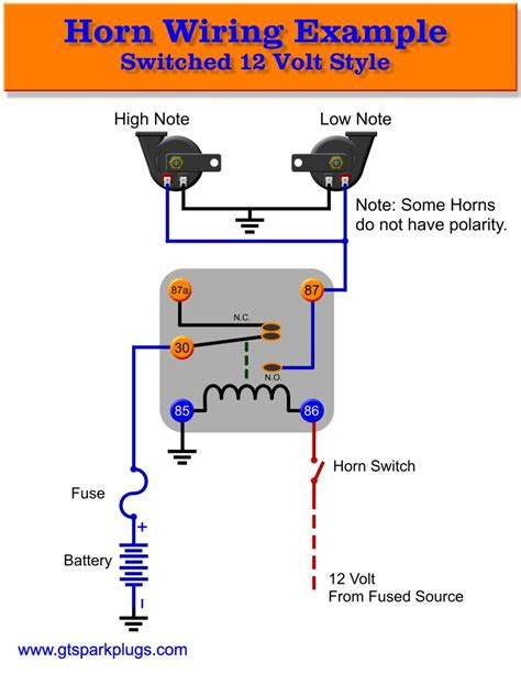 12v air horn wiring diagram free wiring