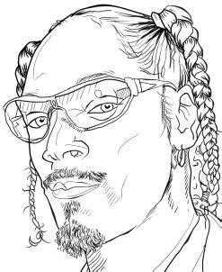 coloring page of snoop dog how to draw snoop dogg step by step portraits people