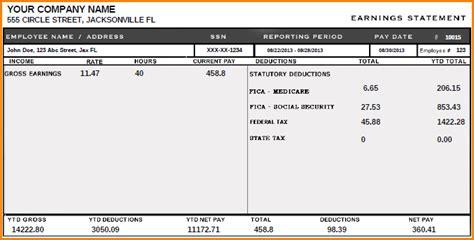 12 Florida Pay Stub Secure Paystub Florida Pay Stub Template