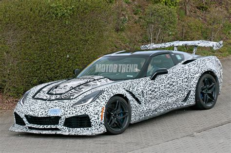 spied 2018 chevrolet corvette zr1 tests at the