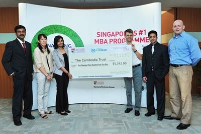 How To Fund An Mba Uk by The Nanyang Mba Recent Forays In Csr