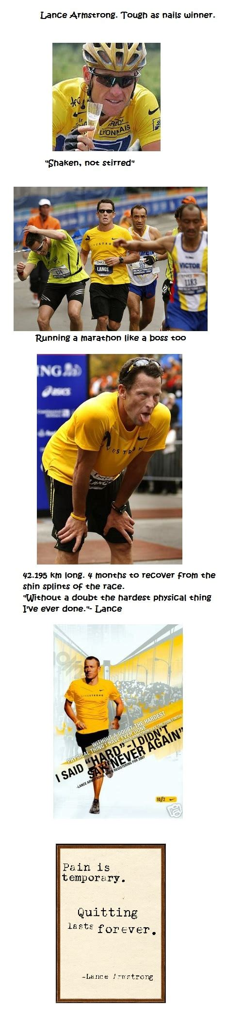 Nyc Marathon Was The Hardest Physical Thing Lance Armstrong Did by Motivational What S The Hardest Physical Thing Lance