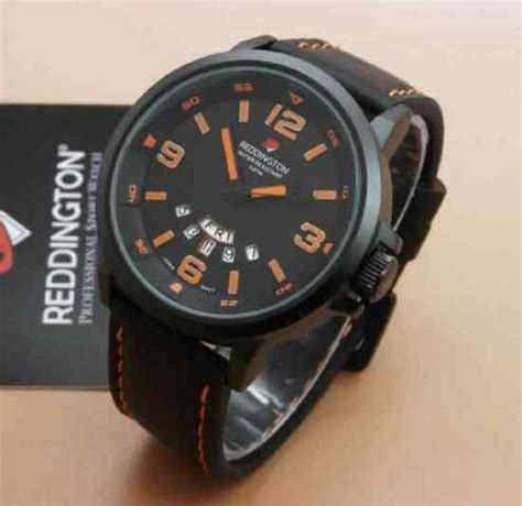 Jam Tangan Pria Reddington Bj431 Original Black Orange T jam tangan reddington original tali kulit 0901l