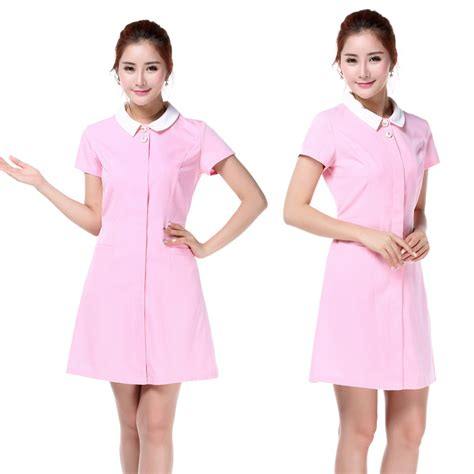 jersey design color pink free shipping new design solid hospital nurse uniform for